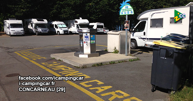 concarneau 1 aire de services et de stationnement camping cars. Black Bedroom Furniture Sets. Home Design Ideas